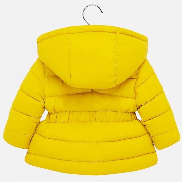Dievčenská bunda s odopínateľnou kapucňou Mayoral žltá | Welcomebaby.sk