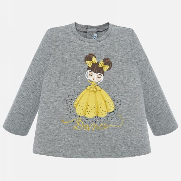 Dievčenské tričko s nápisom Dance Mayoral sivé | Welcomebaby.sk