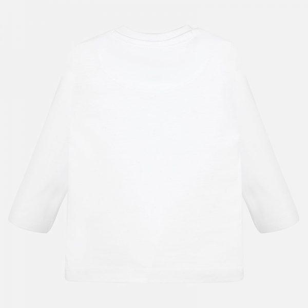 Chlapčenské tričko potlač Motorka Mayoral biele | Welcomebaby.sk