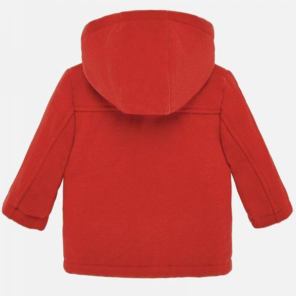 Chlapčenský prešívaný kabát vnútri s kožušinou Mayoral oranžový | Welcomebaby.sk