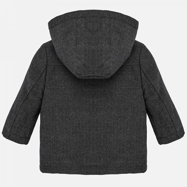 Chlapčenský kabát s kožušinou Mayoral sivý | Welcomebaby.sk