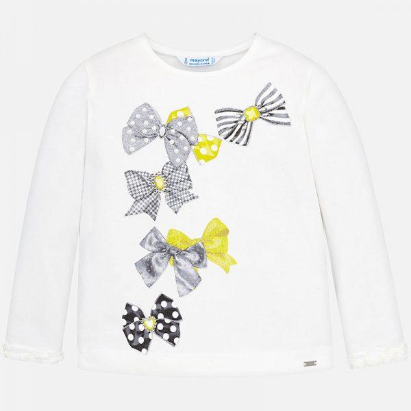 Dievčenské tričko s potlačou mašličiek Mayoral | Welcomebaby.sk