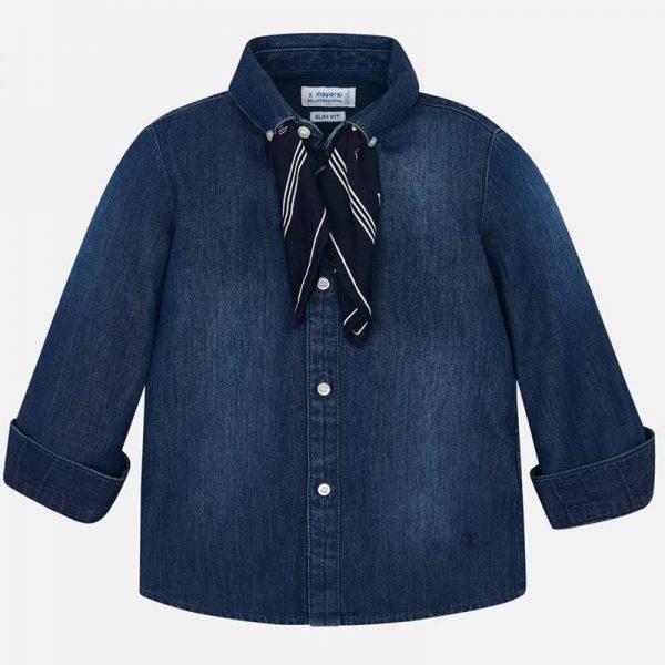 Chlapčenská rifľová košeľa so šatkou Mayoral | Welcomebaby.sk