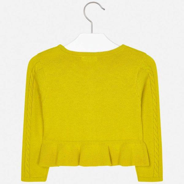 Dievčenský sveter s volánom Mayoral žltý | Welcomebaby.sk