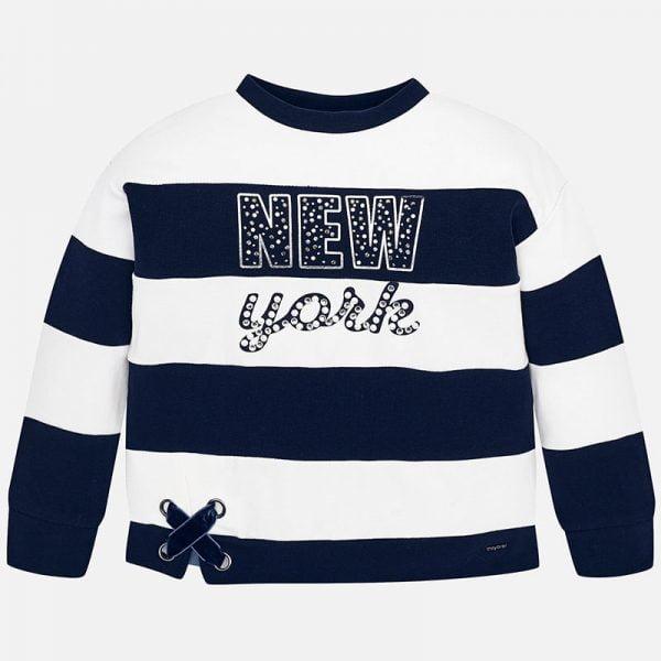 Dievčenská mikina New York Mayoral tmavomodrá | Welcomebaby.sk