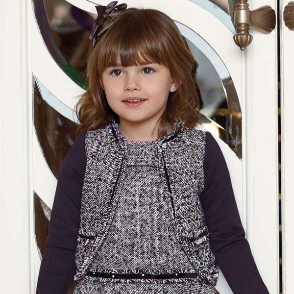 Dievčenská čierna bunda na štýl Chanel Mayoral | Welcomebaby.sk