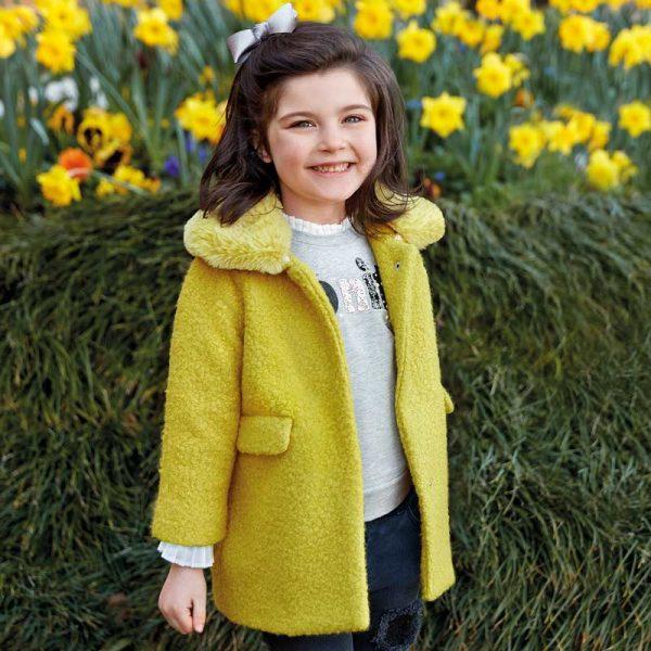 Dievčenský kabát Mayoral žltý | Welcomebaby.sk