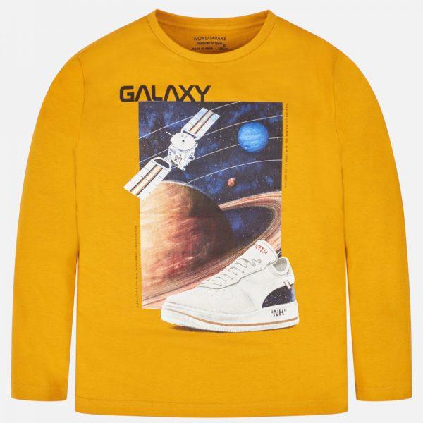 Chlapčenské tričko s nápisom Galaxy Mayoral žlté | Welcomebaby.sk