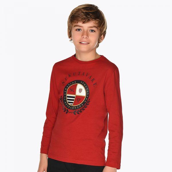 Chlapčenské tričko s nápisom Nakutavake Mayoral červené | Welcomebaby.sk