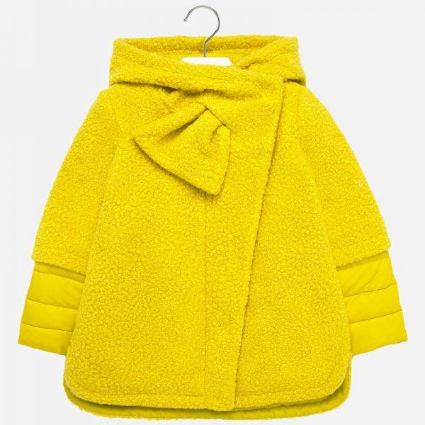 Dievčenský kombinovaný kabát s rukávmi ako klasická vetrovka Mayoral žltý | Welcomebaby.sk