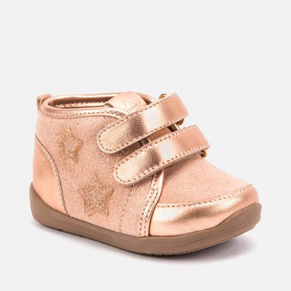 Dievčenské topánky na suchý zips Mayoral ružové | Welcomebaby.sk