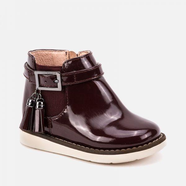 Dievčenské lakované topánky Mayoral lesklé bordové | Welcomebaby.sk