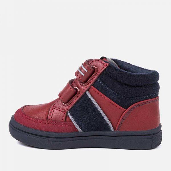 Chlapčenské kožené topánky na suchý zips Mayoral červené | Welcomebaby.sk