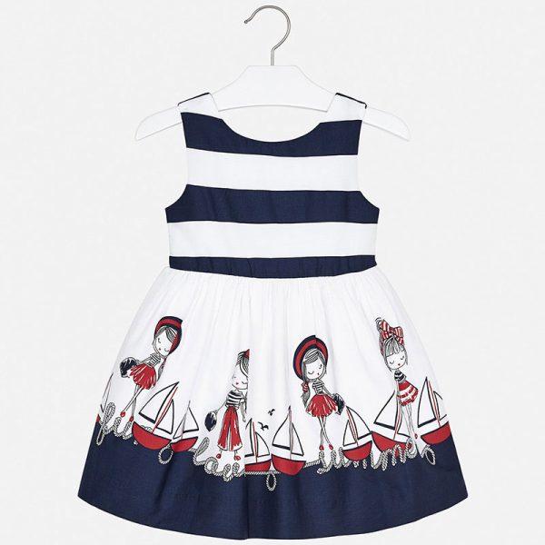 Námornícke šaty s loďkami a postavičkami Mayoral | Welcomebaby.sk