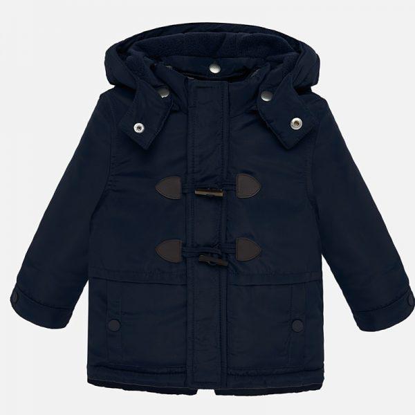 Chlapčenská bunda s kapucňou a veľkými gombíkmi Mayoral | Welcomebaby.sk