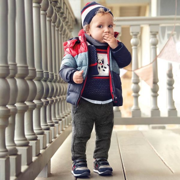 Chlapčenské teplé elegantné nohavice Mayoral sivé | Welcomebaby.sk