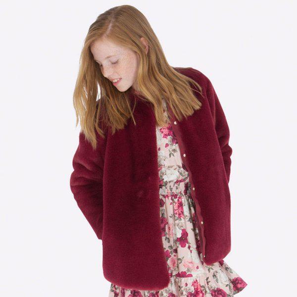 Dievčenský kožuch Mayoral Rubi pre 8-ročné dievčatko | Welcomebaby.sk