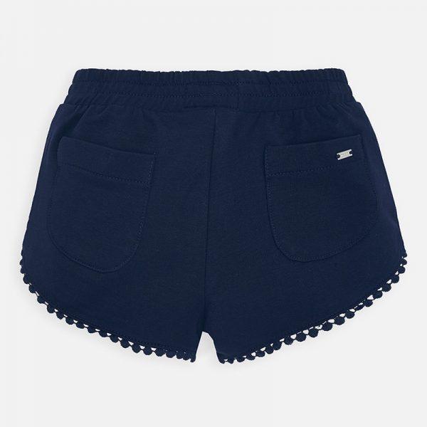 Dievčenské bavlnené šortky s guličkami Mayoral modré | Welcomebaby.sk