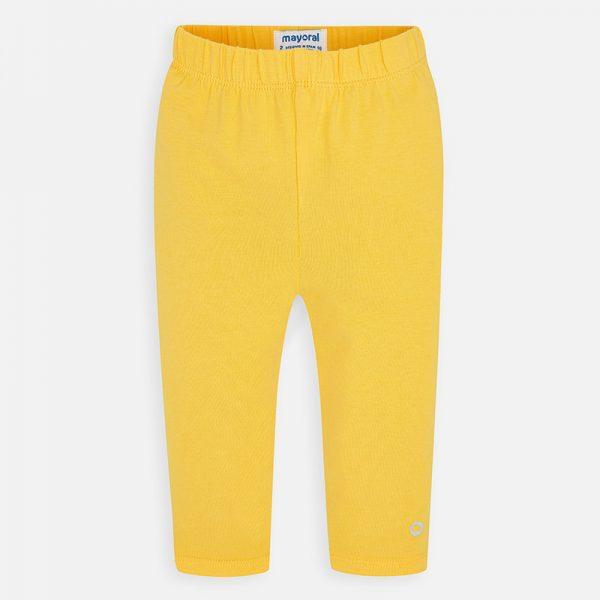 Krátke bavlnené legíny Mayoral žlté | Welcomebaby.sk