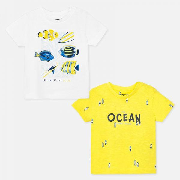 Chlapčenské tričká 2set Mayoral yellow | Welcomebaby.sk