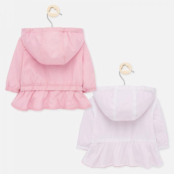Dievčenská prechodná bunda s volánom Mayoral blush | Welcomebaby.sk