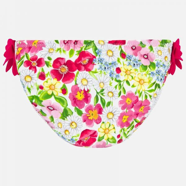 Plavkové nohavičky s kvetmi Mayoral ružové | Welcomebaby.sk