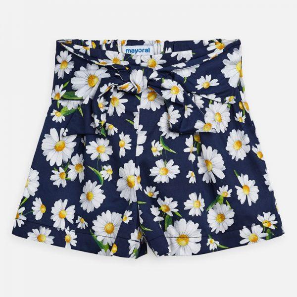 Dievčenské kraťasy s kvetmi Mayoral modré Daisy | Welcomebaby.sk