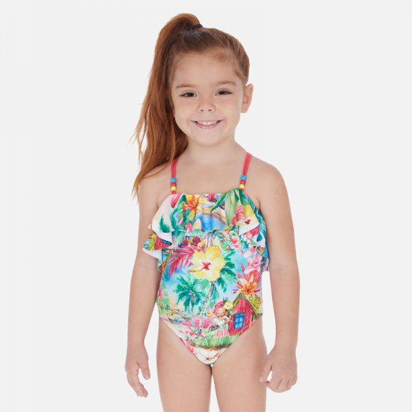 Dievčenské plavky s volánom Mayoral Watermelon | Welcomebaby.sk