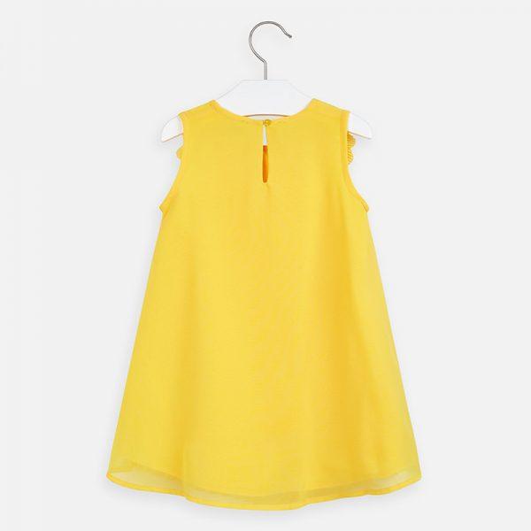 Padavé šaty na ramenách s kvetmi Mayoral žlté   Welcomebaby.sk