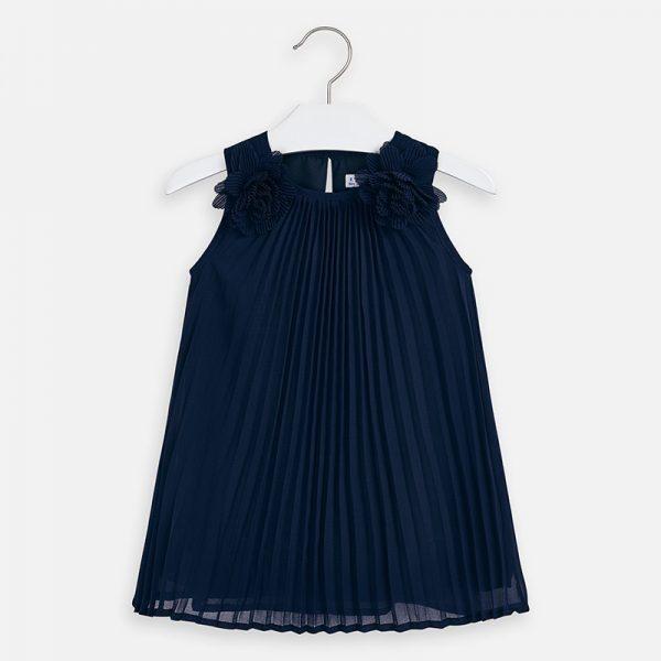 Padavé šaty na ramenách s kvetmi Mayoral modré | Welcomebaby.sk