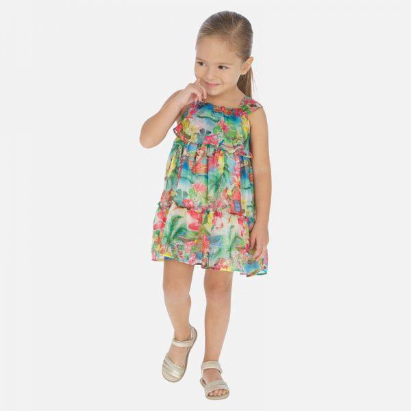 Dievčenské šaty Tropik vzor Mayoral viacfarebné | Welcomebaby.sk