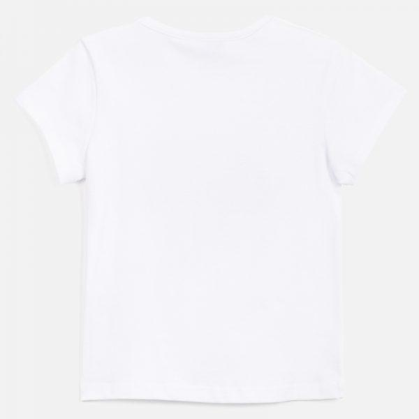 Dievčenské tričko s potlačou oblečenia na vešiakoch Mayoral biele/červené   Welcomebaby.sk