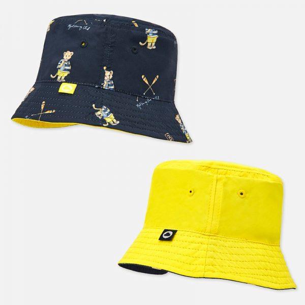 Chlapčenský obojstranný klobúčik Mayoral modrý/žltý | Welcomebaby.sk