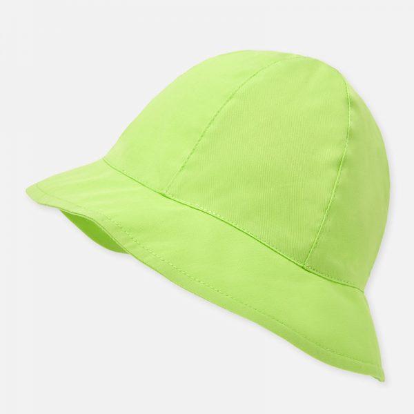Dievčenský bavlnený klobúčik s mašľou Mayoral zelený | Welcomebaby.sk
