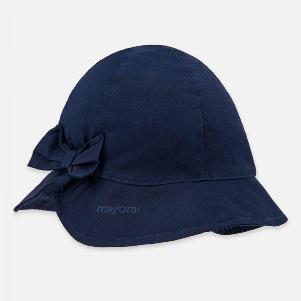 Dievčenský bavlnený klobúčik s mašľou Mayoral modrý | Welcomebaby.sk