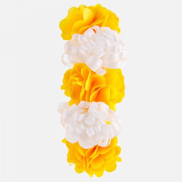 Čelenka s kvetmi žltá Mayoral | Welcomebaby.sk