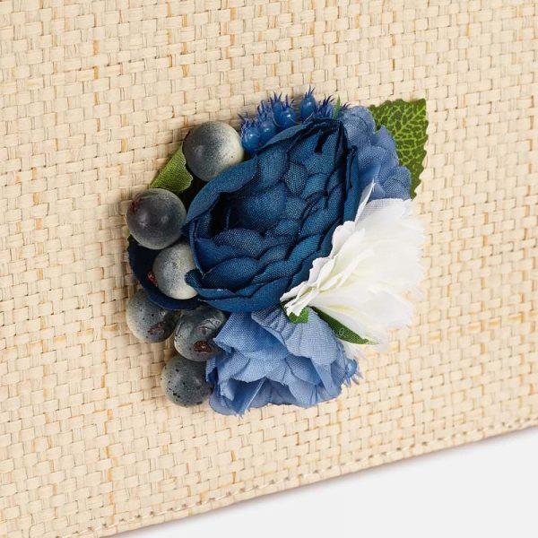 Kabelka s kvetom Mayoral modrá | Welcomebaby.sk