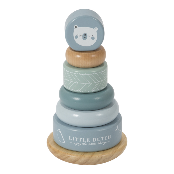 Nasadzovacie krúžky Little Dutch modré | Welcomebaby.sk