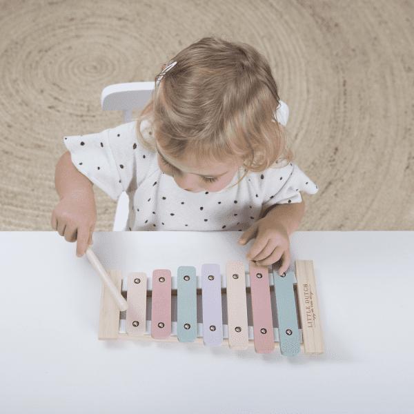 Xylofon Little Dutch ružový | Welcomebaby.sk