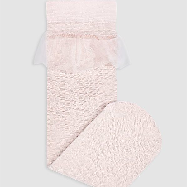 Čipkované ponožky s volánom Abel & Lula ružové | Welcomebaby.sk