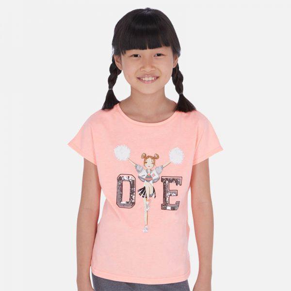 Dievčenské tričko s flitrami cheerleader Mayoral flamingo | Welcomebaby.sk