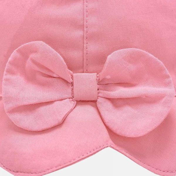 Dievčenský bavlnený klobúčik s mašľou a šnúrkou baby Mayoral flor | Welcomebaby.sk
