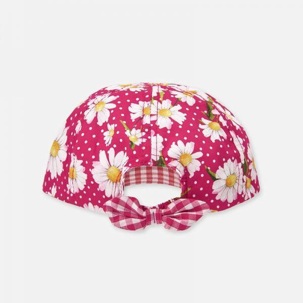 Dievčenská šiltovka s kvetmi, bodkami a vzadu s mašľou Mayoral ružová | Welcomebaby.sk
