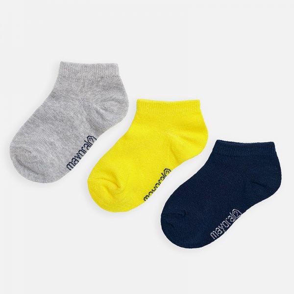 Chlapčenské krátke ponožky 3set Mayoral canario | Welcomebaby.sk