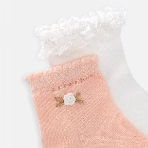 Dievčenské ponožky s čipkou Mayoral melocoton | Welcomebaby.sk
