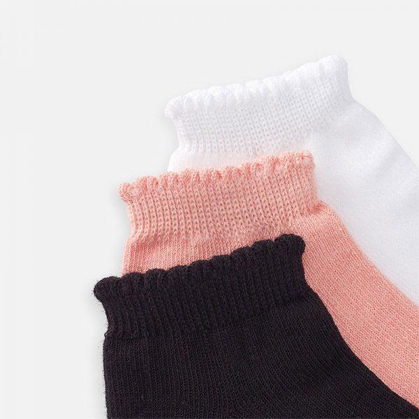Dievčenské krátke ponožky 3set Mayoral nude | Welcomebaby.sk