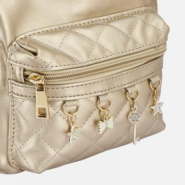 Dievčenský ruksak s visiacimi ozdobami Mayoral zlatý | Welcomebaby.sk