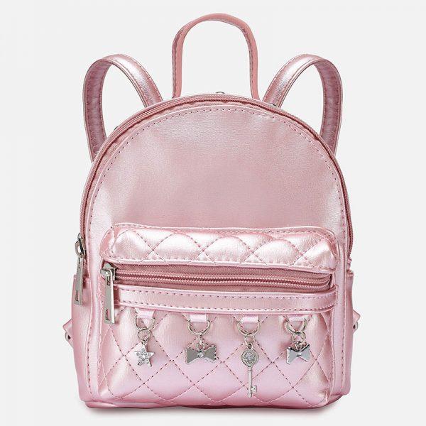 Dievčenský ruksak s visiacimi ozdobami Mayoral ružový | Welcomebaby.sk
