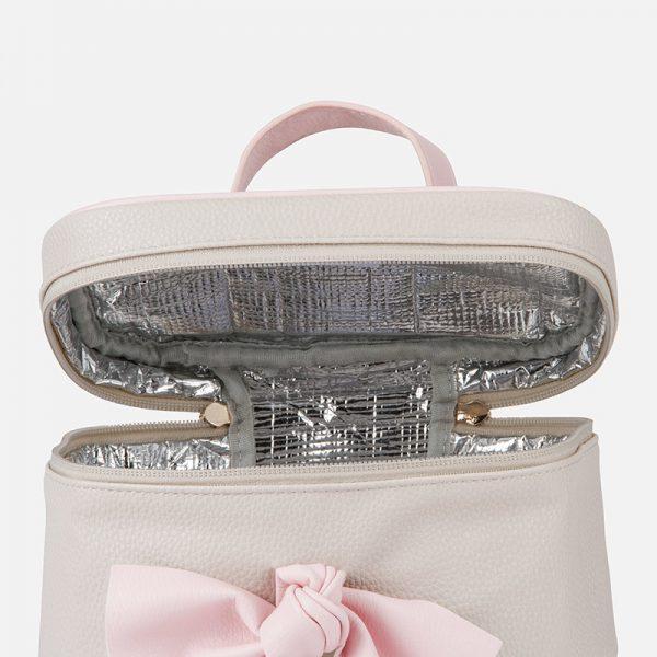 Veľká termo taška s ružovou mašľou Mayoral sivá | Welcomebaby.sk