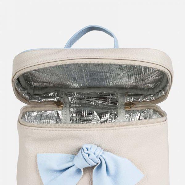 Veľká termo taška s modrou mašľou Mayoral sivá | Welcomebaby.sk